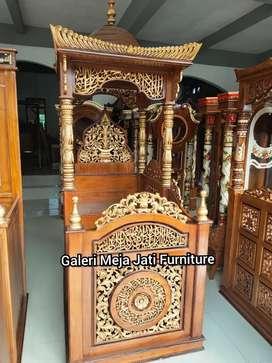 Mimbar masjid talk E758 kayu jati