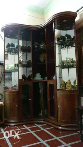 Free standing glass cabinet, urgent sell