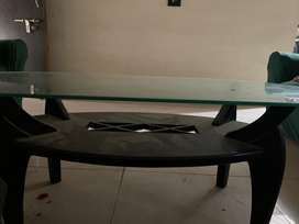 Small centre table(glass&wood)