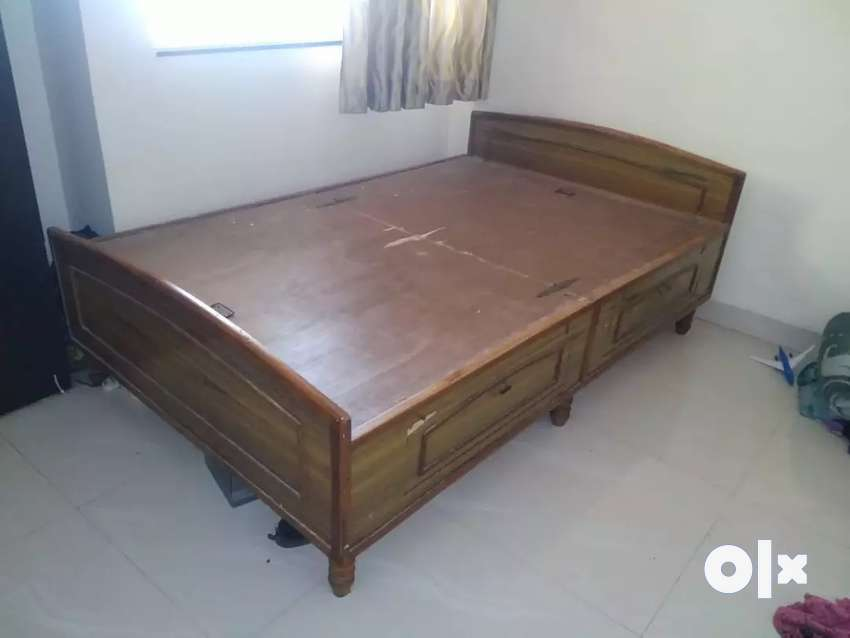 Wooden bed made of plywood 0