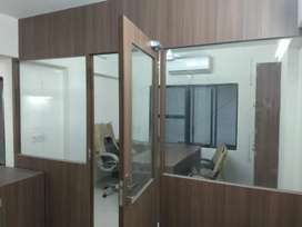 Fully Furnished 550 sq feet Office on rent CG Road