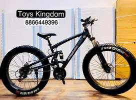 New Imported Double Shocker Fat Tyre Bicycles