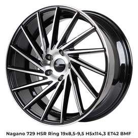 new NAGANO 729 HSR R19X85/95 H5X114,3 ET42 BMF