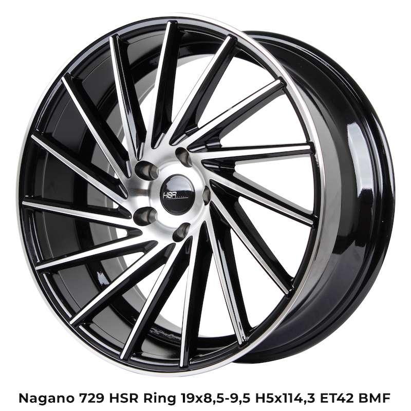 new NAGANO 729 HSR R19X85/95 H5X114,3 ET42 BMF 0