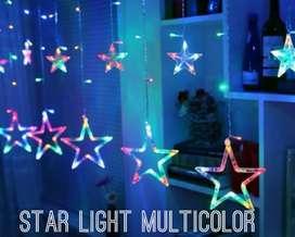 Star light led curtain - multicolor - 12 star