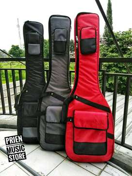 Gigbag bass elektrik anti air busa tebal