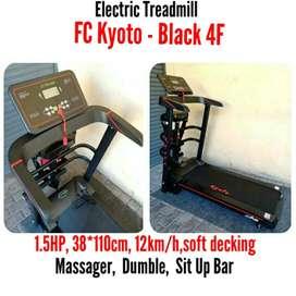 Promo Kota Batu - Treadmill Elektrik 4 Fungsi Kyoto