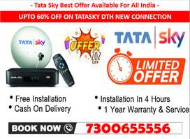 #1 Year Free Offer - Tata Sky ! - Tatasky, Airtel, Dishtv New SD/HD !!