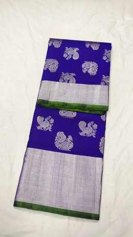 beautiful blue saree