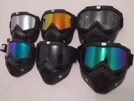 Goggle mask for all helmet