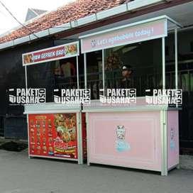 *Dijual Booth Portable / Meja Lipat / Booth *makanan* = candle popcorn