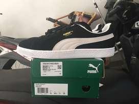 Puma Suede Classic Black White Size 10UK