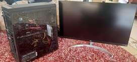 Pc rtx1070 rakitan gaming plus monitor 4k HDR 27inch
