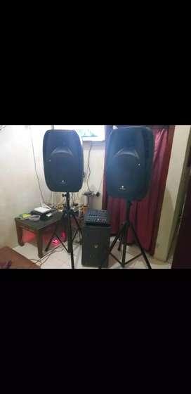 Power mixer 4chanel baru semua speaker 15in box dari fiber