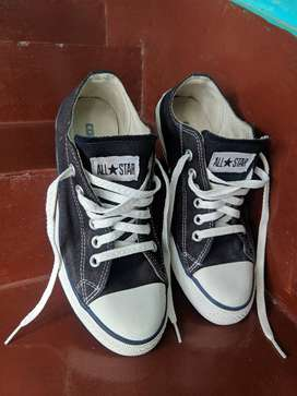 Converse All Star Black Shoes (Size: UK 6/US 7)
