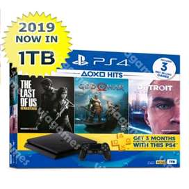 Chas/Credit New! PS4 Slim 1TB 3Game