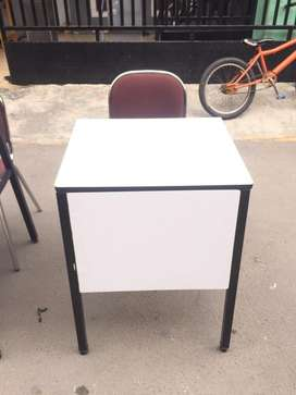 Meja belajar / meja kerja 70x50cm kaki besi, Meja saja kursi tdk ikut