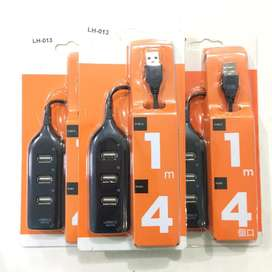 B A R U USB HUB 4 port Multifungsi untuk Laptop/PC/Notebook/Netbook