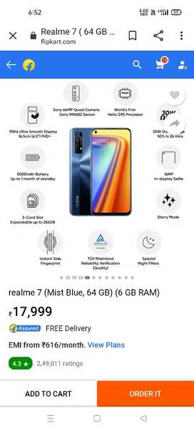 REALME 7 8 month use only