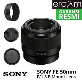 Lensa Sony FE 50mm F 1.8 BLACK NEW