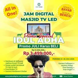 Promo 99 Masjid Pertama Jam Digital Masjid TV Led Gratis TV