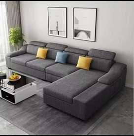 L type latest model sofa set warranty 10 years