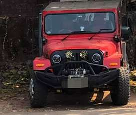 Modified new red jeep