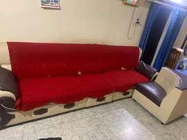 L shape sofa seating