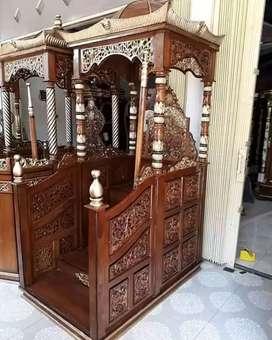 mimbar masjid kubah mulus