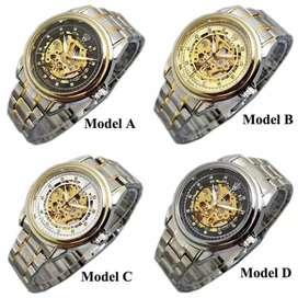 Jam tangan rolex pria otomatis silver