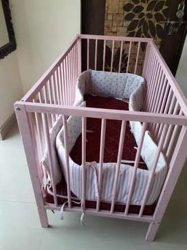 Kids cot bed with mattress