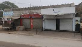 6 comericial shops on bhari colony road and plot