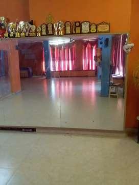 A long hall previously a dance hall