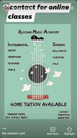 music classis ..vocal . guitar . keyboard .harmoniam