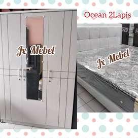JX MEBEL# Isi Kamar set SpringBed Ocean 2Lapis No.1 Lemari 3 Pintu