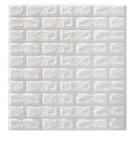 Wallpaper sticker 3DFoam bata putih