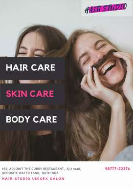 Need a skin specialist girl for unisex salon at Ajit road,  Bathinda