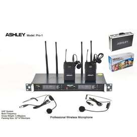mic wireless ASHLEY PRO.1 (2bh clip on+2bh headset)BISA UBAH FREQUENCY