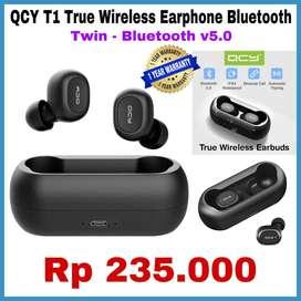 ORIGINAL Earphone Bluetooth QCY T1 - True Twin - Bluetooth V5