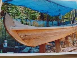 Wood boat .