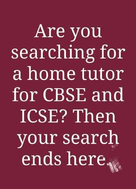 Tuition for ICSE and CBSE