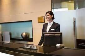 Required good  looking female receptionist