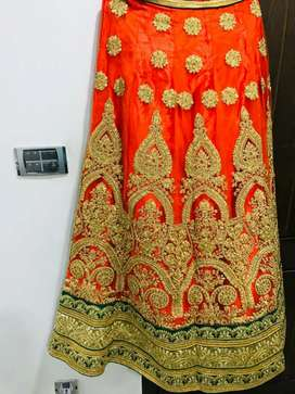 mehndi dress with jewellery and heels