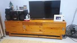 Meja tv minimalis bhn dr kyu jati Belanda uku 45x50x150mint lasung