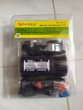 Mini air compressor/kompresor pompa ban angin portable