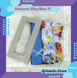 Jual Mukena Silky Blue 11