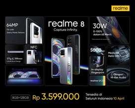 Realme 8 RAM 8GB ROM 128GB, Garansi Resmi, Terlengkap