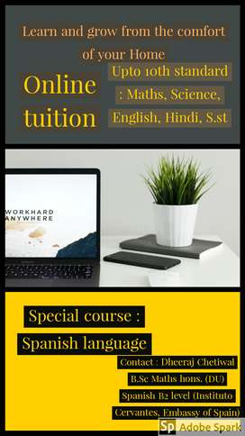 Maths and science tuition upto 10th standard