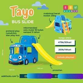 Mainan anak perosotan bis tayo original lucu