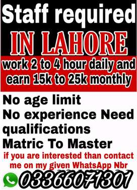 Only Lahore student's male's/ female's